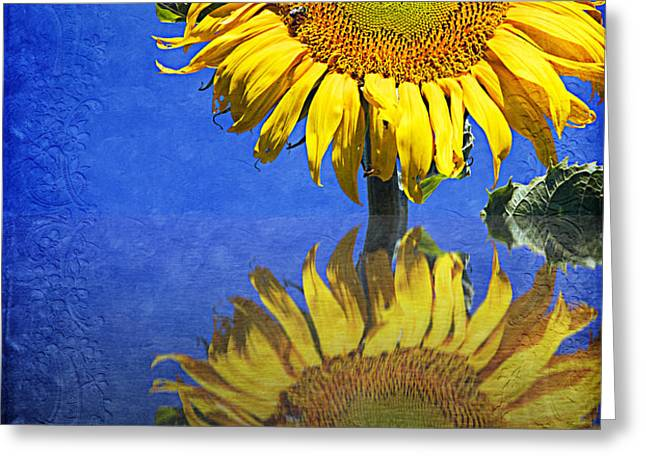Sunflower Reflection Greeting Card by Andee Design