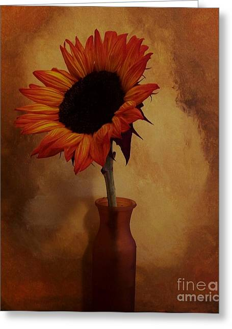 Sunflowers Greeting Cards - Sunflower Seed Maker Greeting Card by Marsha Heiken