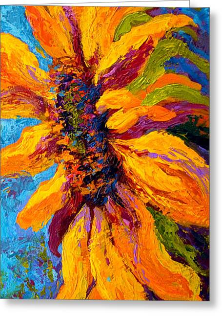 Sunflower Greeting Cards - Sunflower Solo II Greeting Card by Marion Rose