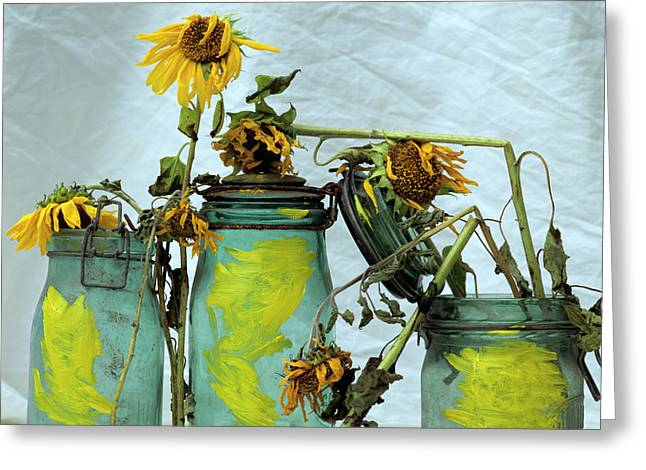 Sun Studio Greeting Cards - Sunflowers Greeting Card by Bernard Jaubert
