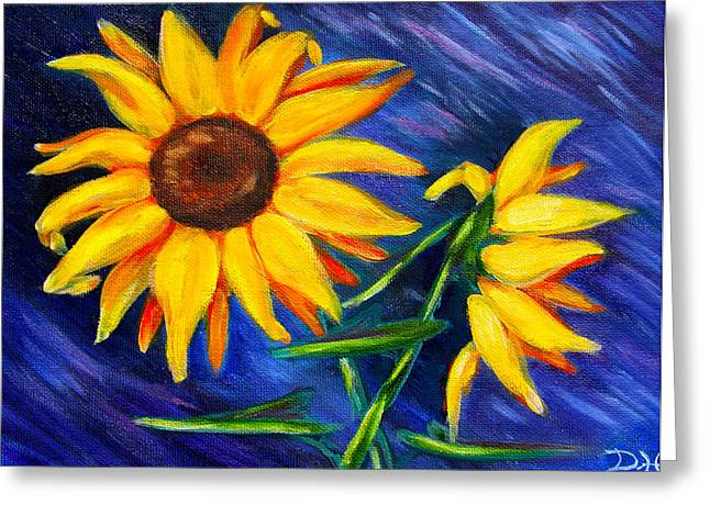 Diana Haronis Greeting Cards - Sunflowers Greeting Card by Diana Haronis
