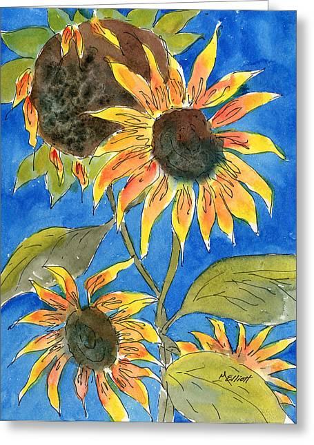 Sunflowers Greeting Card by Marsha Elliott