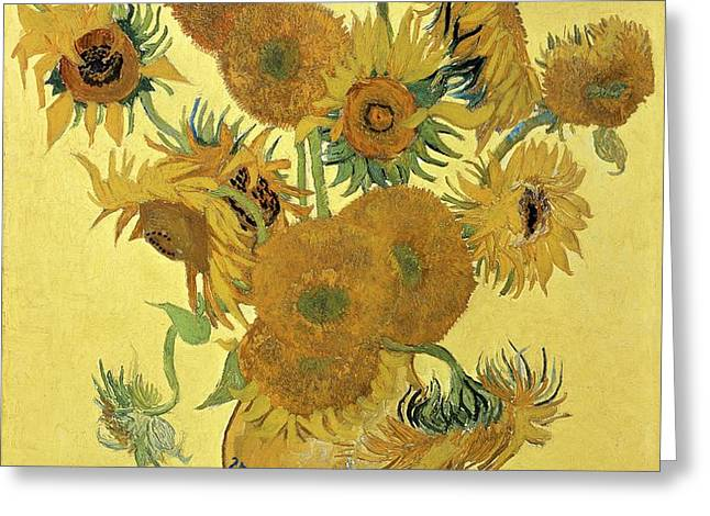 Sunflowers Greeting Card by Vincent Van Gogh