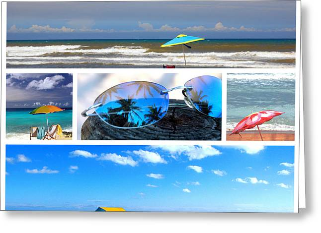 Reflection Of Sun In Clouds Greeting Cards - Sunglasses needed in Paradise Greeting Card by Susanne Van Hulst