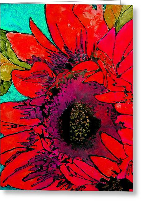 Sunkissed Sunflower Greeting Card by Laura  Grisham