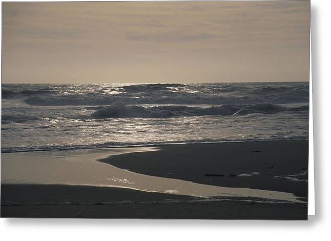 Ventura California Greeting Cards - Sunlight Glints Off The Pacific Ocean Greeting Card by Stacy Gold