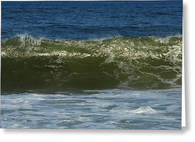 Blue Green Water Greeting Cards - Sunlight Glitter - Jersey Shore Greeting Card by Angie Tirado