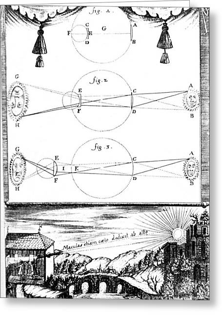 Oculus Greeting Cards - Sunlight Passing Through Lenses, 1685 Greeting Card by Science Source