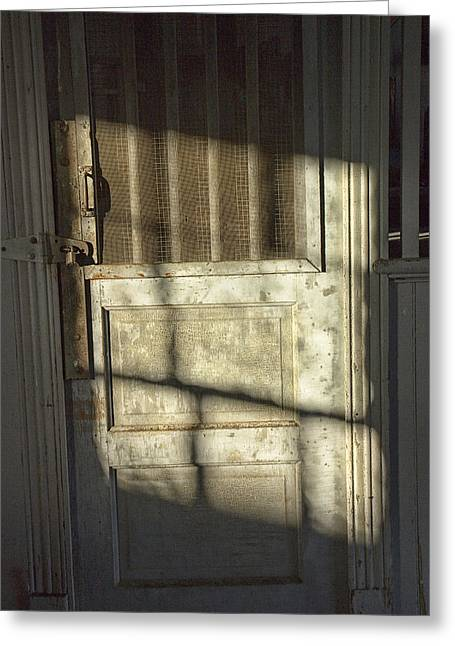 Sunlit Door Greeting Cards - Sunlit Door Greeting Card by Randall Nyhof