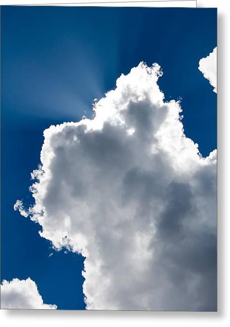Robert Hellstrom Greeting Cards - Sunny Cloud Greeting Card by Robert Hellstrom