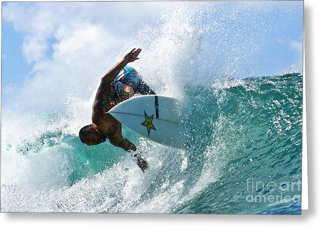 Surf Greeting Cards - Sunny Garcia surfing at Bowls Greeting Card by Paul Topp