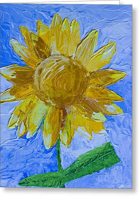 Painted Details Paintings Greeting Cards - Sunny Greeting Card by Heidi Smith