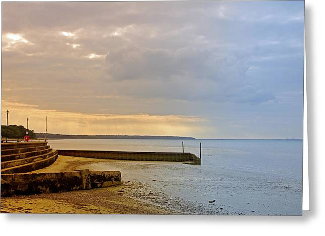 Coastal Greeting Cards - Sunny Interlude on Ryde Esplanade Greeting Card by Rod Johnson