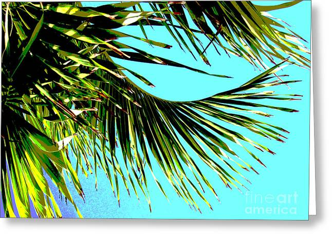 Manipulated Photography Greeting Cards - Sunny Tropical Afternoon Greeting Card by Ann Powell