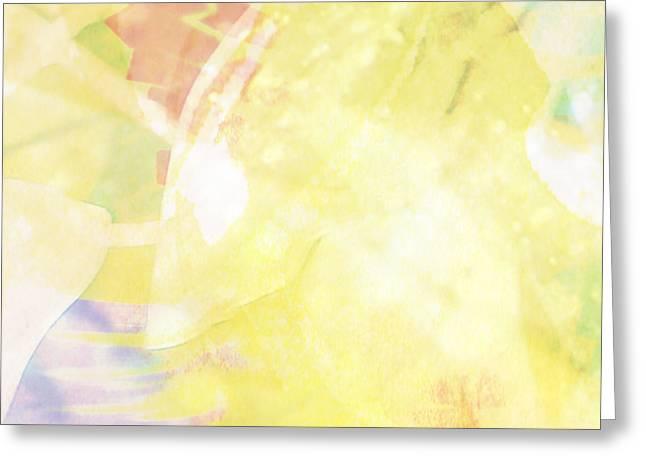 Tropics Mixed Media Greeting Cards - Sunny Tropics Greeting Card by Maria Eames