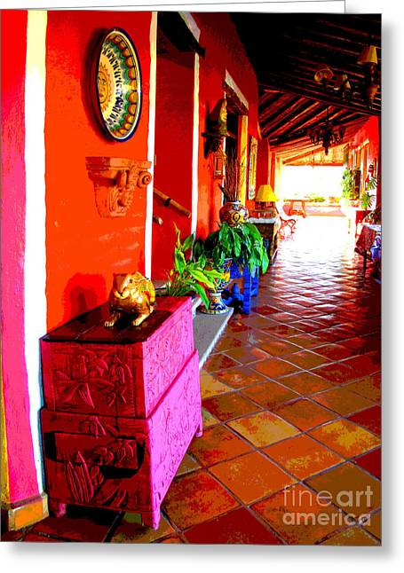 Gypsy Greeting Cards - Sunny Veranda by Darian Day Greeting Card by Olden Mexico