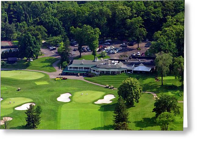 Plymouth Meeting Aerials Greeting Cards - Sunnybrook Golf Club 398 Stenton Avenue Plymouth Meeting PA 19462 1243 Greeting Card by Duncan Pearson