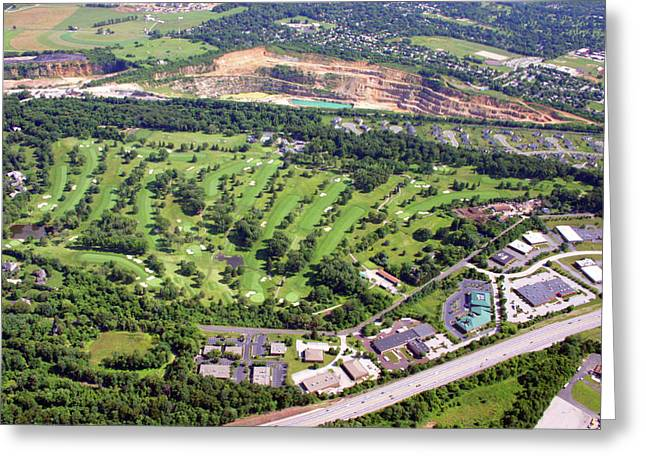 Plymouth Meeting Aerials Greeting Cards - Sunnybrook Golf Club Golf Course 398 Stenton Avenue Plymouth Meeting PA 19462 1243 Greeting Card by Duncan Pearson