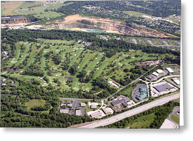 Plymouth Meeting Aerials Greeting Cards - Sunnybrook Golf Club Golf Course Greeting Card by Duncan Pearson