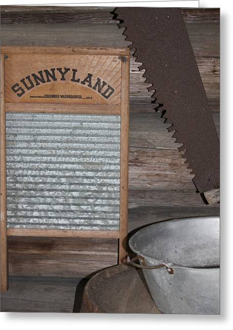 Washboards Greeting Cards - Sunnyland Greeting Card by Dana  Oliver