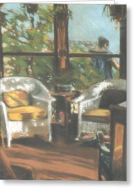 Sunporch Greeting Cards - Sunporch Greeting Card by Linda Crockett