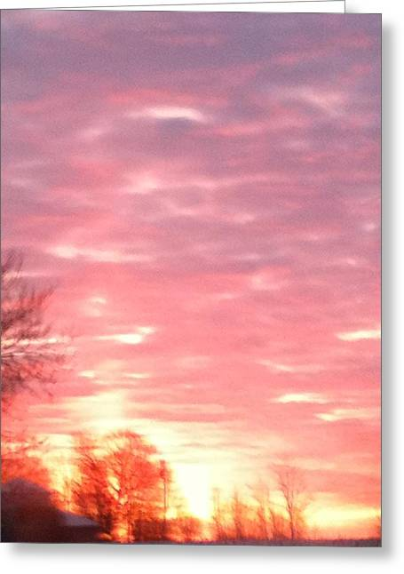 Sorbet Greeting Cards - Sunrise 1 Greeting Card by Bebheann Conlin