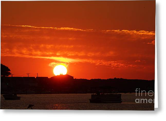 Sunrise 7547 Greeting Card by Chuck Smith