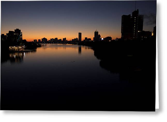 Charles River Greeting Cards - Sunrise Along The Charles River, Boston Greeting Card by Tim Laman