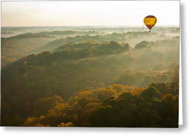 Bloomington Greeting Cards - Sunrise and Fog Greeting Card by Anthony Doudt
