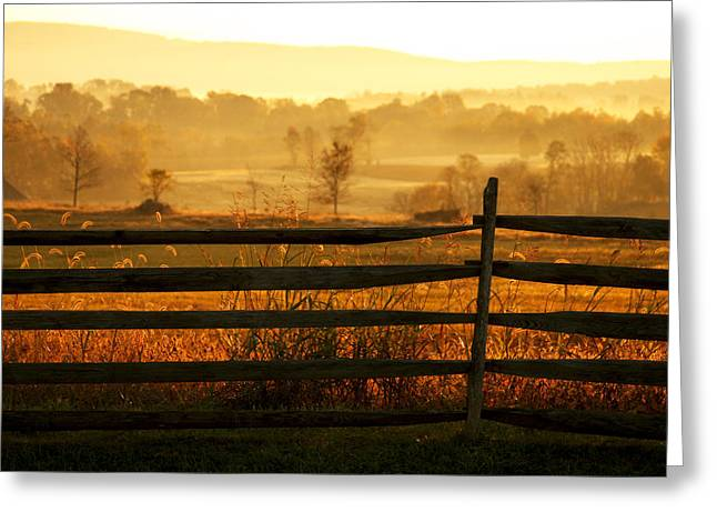Antietam Greeting Cards - Sunrise at Antietam Greeting Card by Brian M Lumley