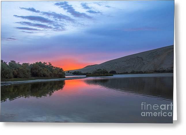 Idaho Photography Greeting Cards - Sunrise at Bruneau Dunes Greeting Card by Robert Bales