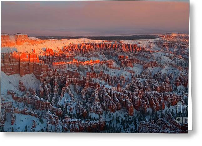 Winter Travel Greeting Cards - Sunrise at Bryce Greeting Card by Keith Kapple