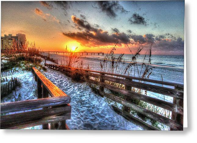 Crimson Tide Digital Art Greeting Cards - Sunrise at Cotton Bayou  Greeting Card by Michael Thomas