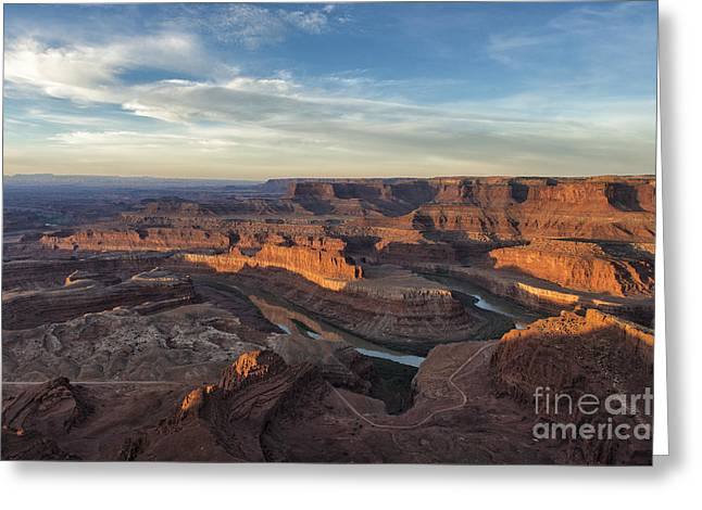 Sunrise At Dead Horse Point State Park Greeting Card by Sandra Bronstein