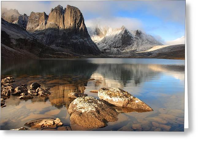 Sunrise At Divide Lake, Tombstone Greeting Card by Robert Postma