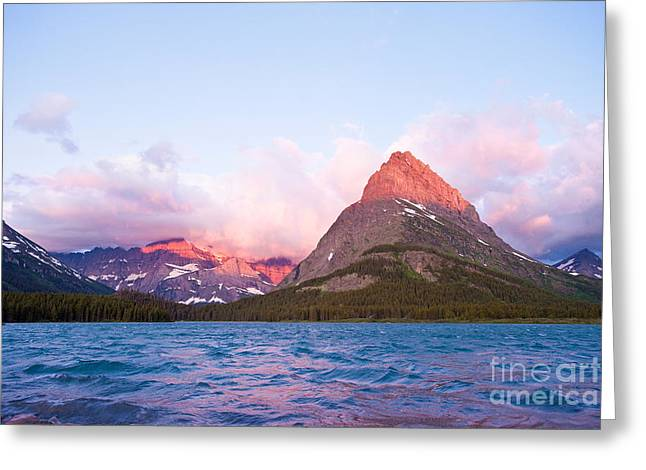 Geomorphology Greeting Cards - Sunrise at Glacier National Park Greeting Card by Andrew J Martinez and Photo Researchers