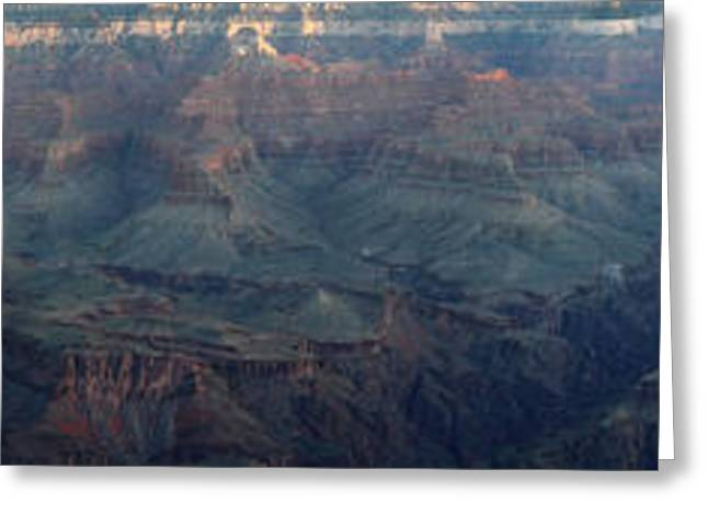 Amazing Sunset Greeting Cards - Sunrise at Grand Canyon Panorama Greeting Card by Pierre Leclerc Photography