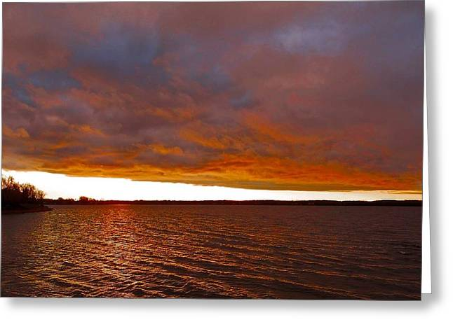 Sunrise At Ile-bizard ...  Greeting Card by Juergen Weiss