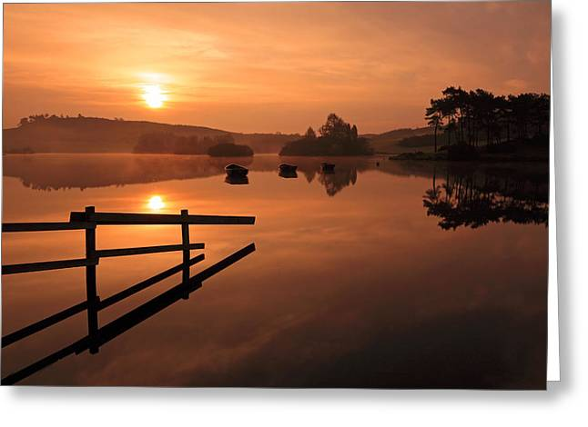 Sunrise At Knapps Loch Greeting Card by Grant Glendinning