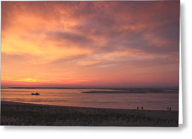 Chatham Greeting Cards - Sunrise at Lighthouse Beach Chatham Cape Cod Greeting Card by John Burk