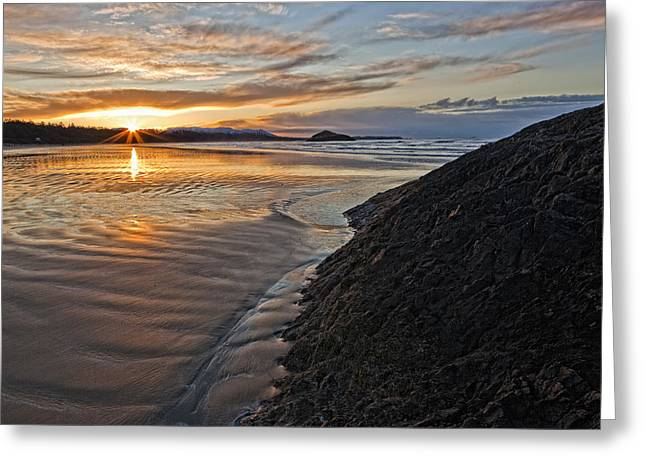 Without Lights Greeting Cards - Sunrise At Long Beach, Pacific Rim Greeting Card by Robert Postma