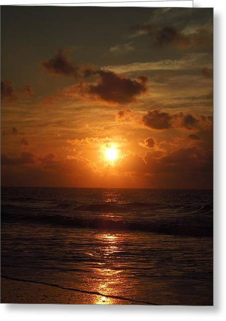 Sunrise At Myrtle Beach South Carolina Greeting Card by Chad and Stacey Hall