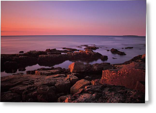 Sunrise At Otter Point Greeting Card by Rick Berk