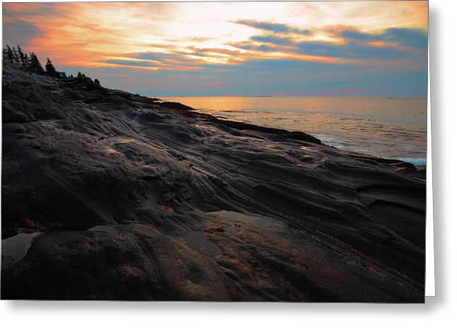 Sunrise Greeting Cards - Sunrise at Pemaquid Point Greeting Card by Rick Berk