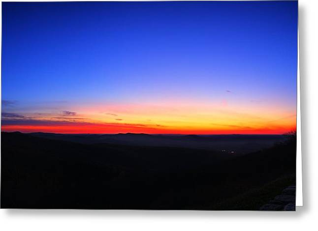 Pink Greeting Cards - Sunrise at Skyline Drive Greeting Card by Metro DC Photography