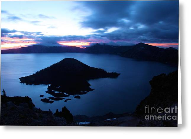 Craters Greeting Cards - Sunrise At The Crater Greeting Card by Adam Jewell
