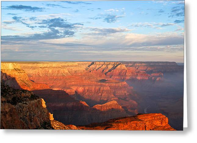 The Grand Canyon Greeting Cards - Sunrise At The Grand Canyon Greeting Card by Heidi Smith