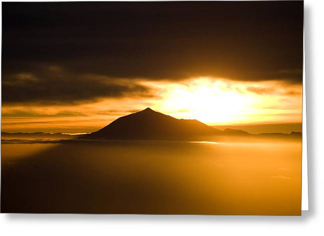 sunrise behind Mount Teide Greeting Card by Ralf Kaiser