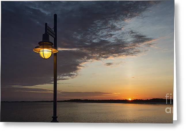 Ocean Panorama Greeting Cards - Sunrise by Lamplight Greeting Card by John Greim