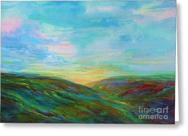 Cavern Paintings Greeting Cards - Sunrise Cavern Greeting Card by Deb Magelssen